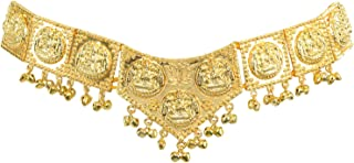 Temple Gold Plated Lakshmi Belt (V Shape) for BHARATANATYAM/Marriage