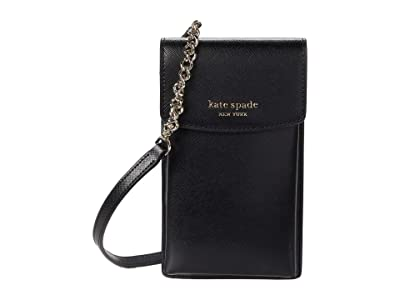 Kate Spade New York Spencer North/South Phone Crossbody for iPhone(r) (Black) Cell Phone Case