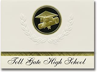 Signature Announcements Toll Gate High School (Warwick, RI) Graduation Announcements, Presidential style, Basic package of...