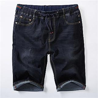 632f00258f Frozac Plus Size 7XL Mens Denim Shorts Elastic Waist Loose Jeans Shorts  Summer Cotton Pants