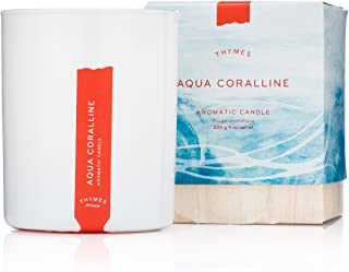 Thymes - Aqua Coralline Aromatic Scented Candle - Long Lasting Relaxing Beach Scent with Gift Box - 9 oz