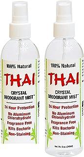Thai Deodorant Stone Crystal Mist Natural Deodorant Spray 8 oz. Bundle, Pack of 4