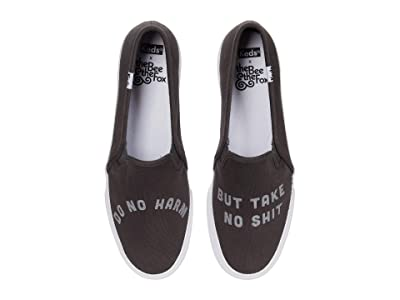 Keds Bee Fox x Double Decker Do No Harm (Charcoal) Women