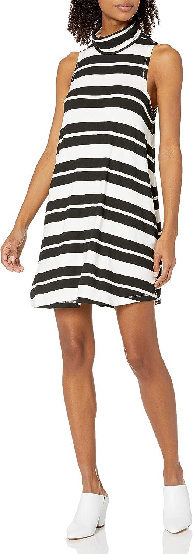Sale RVCA Junior's Alias Turtleneck Outlet SALE Swing Stripe Dress
