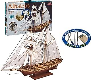 Outletdelocio. Constructo 80702. Maqueta de Barco en Madera. Goleta Albatros. Escala 1/55 + Herramientas