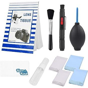 pa/ños de Microfibra Lentes /ópticas y c/ámaras Digitales SLR Kit de Limpieza Profesional de c/ámaras DSLR de KuuZuse con hisopos de Limpieza APS-C bol/ígrafo para Lentes