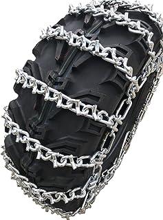 TireChain.com 25 X 12 X 9, 25 12 9 ATV UTV 2 Link V Bar Tire Chains Set of 2