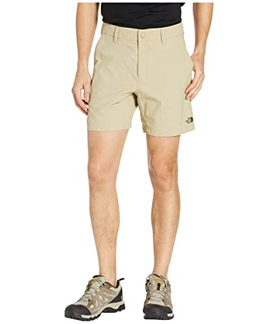 The North Face Flat Front Adventure 7 Shorts (Twill Beige) Men