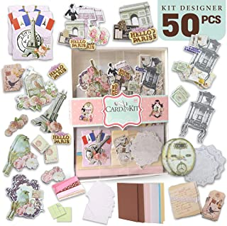 PICKME DIY Greeting Card Making Kit | Handmade Card Maker for Kids & Adults | Beautiful Assortment of Art Characters & Stationery Set| Create Your Own Personalized Birthday Card & Thank You Card