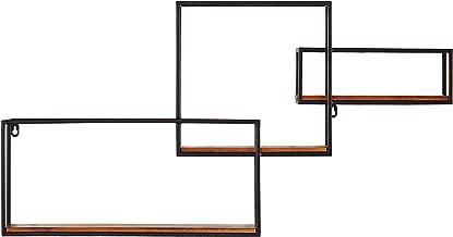 Rivet Contemporary Cubic Iron 3-Shelf Floating Unit - 18.11