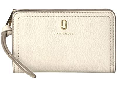Marc Jacobs Compact Wallet (Cream) Wallet Handbags