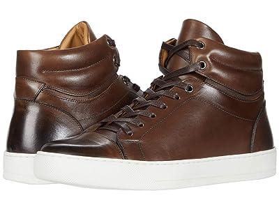 eleventy Burnish Finish High-Top Sneaker (Brown) Men