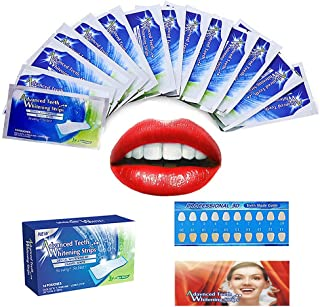 Teeth Whitening Strips, White Whitestrips Dental Teeth Whitening Strips Kit 3D Whitestrips No Sensitivity Home Tooth Bleaching for Tooth Whitening 28 Days Treatment (14 Treatments)