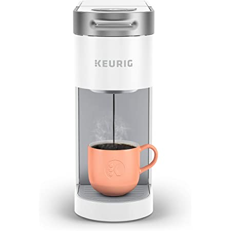 Keurig K-Slim Coffee Maker, Single Serve K-Cup Pod Coffee Brewer, 8 to 12 Oz. Brew Sizes, White