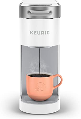 Keurig K-Slim Coffee Maker, Single Serve K-Cup Pod Coffee Brewer, 8 to 12oz. Brew Sizes,White