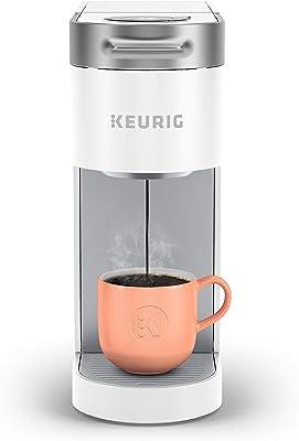 Keurig K-Slim Coffee Maker, Single Serve K-Cup Pod Coffee Brewer, 8 to 12 Oz. Brew Sizes, White