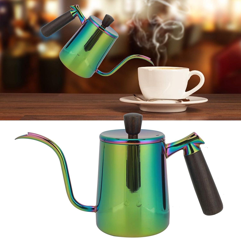 Coffee Pot,Gooseneck Kettle,700ml Portable Stainless Steel Long