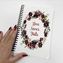NOTEBOOK - Love Never Fails 80 page notebook, for the Jehovah's Witnesses International or Regional convention - JW Gifts JW Shop JW Store Baptism Gifts **