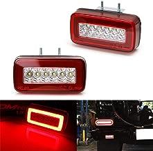 iJDMTOY Red Lens 3-In-1 LED Rear Fog Backup Light Kit For 1986-2018 Mercedes Benz W463 G-Class G500 G550 G55 G63 AMG, Functions as Rear Fog Driving Brake & Reverse Lights