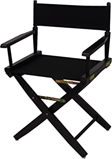 "American Trails Extra-Wide Premium 18"" Director's Chair Black Frame with Black Canvas"