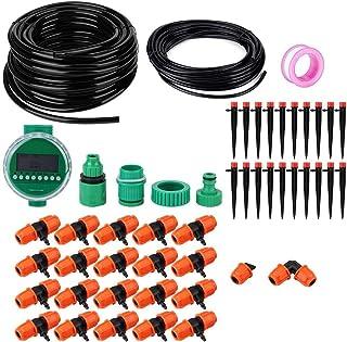 Gardening, watering equipment Drip Irrigation Kits, 20m Garden Irrigation Timer Controller with 8-Holes Dripper Drip Irrig...