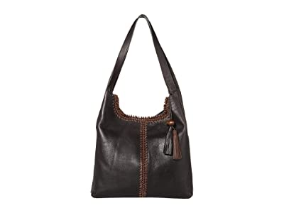 The Sak Huntley Hobo (Black Crochet) Hobo Handbags