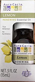 Aura Cacia Essential Lemon Boxed Oil, 0.5 oz