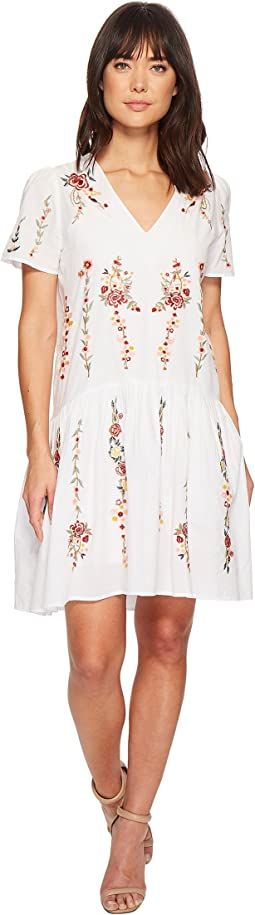 Cyntia High-Low Cotton Embroidered Dress