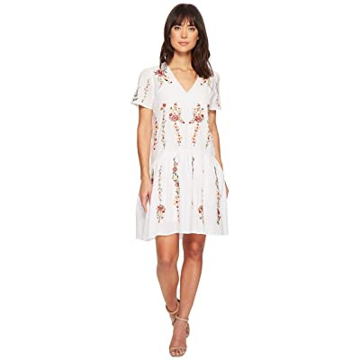 CATHERINE Catherine Malandrino Cyntia High-Low Cotton Embroidered Dress (Bright White) Women