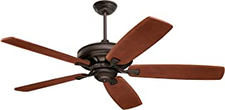 Emerson Ceiling Fans CF788ORB Carrera Grande Eco Indoor Outdoor Ceiling Fan With 6-Speed Wall Control, Energy Star And Damp Rated, Blades Sold Separately, Light Kit Adaptable, Oil Rubbed Bronze Finish