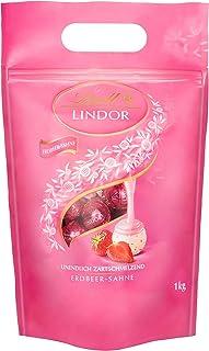 Lindt Lindor Erdbeer-Sahne-Schokoladenkugeln ca. 80 Kugeln 1 kg