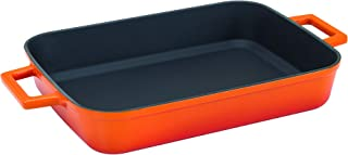 Pentole Agnelli Cast Iron Bi - Colour Grill Tray, Dimension 26 x 40 cm.