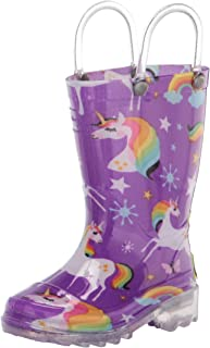 Kids' Waterproof Rain Boots That Light up with Each Step