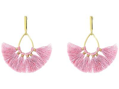 J.Crew Sweepy Tassel Earrings (Bohemian Rose) Earring