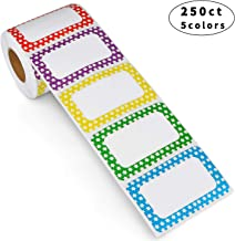 """Methdic 5 Colors Adhesive Name Tag Labels, 250 Stickers 3.5"""" x 2.25"""" Plain Tags for Office & School"""