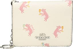 Pig Print Key Ring Card Case