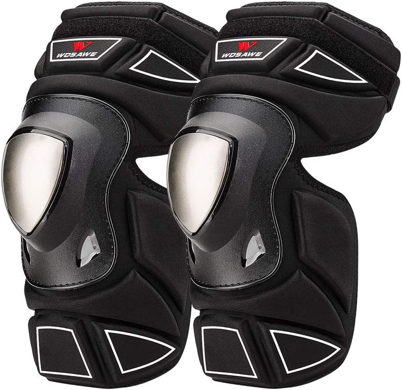 WOSAWE Motorcycle Knee Pads Alloy Guards Cycling MTB with Max 46% OFF Max 59% OFF Steel