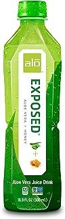 ALO Exposed Aloe Vera Juice Drink, Aloe Vera + Honey, 16.9 Fl Oz (Pack of 12)