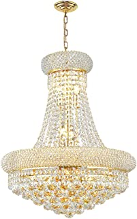 Worldwide Lighting Empire Collection 12 Light Gold Finish Crystal Chandelier 20