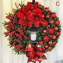 YTXTT Guirlanda de Natal, guirlanda de Natal artificial, grinalda de porta da frente para decoração de árvore de Natal