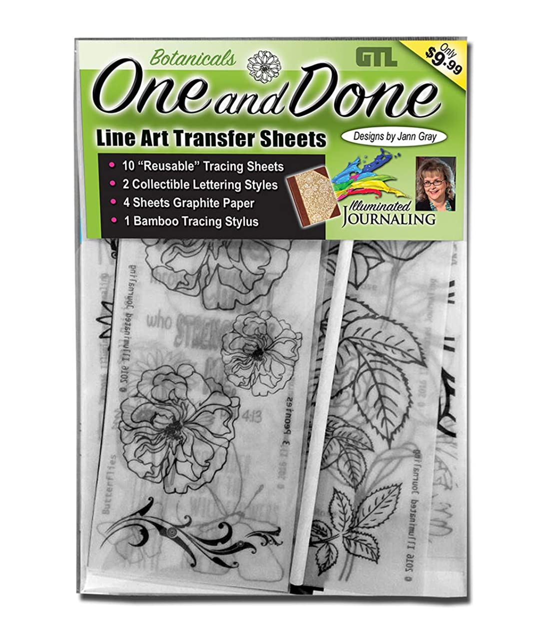 One and Done Line Art Transfer Sheets (Botanicals)