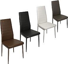 ESTEXO 2/4/6/8 x eetkamerstoel, eetkamerstoelen, stoelen, keukenstoel, stoelgroep, leunstoel, eetkamerstoel (6 stuks, grijs)