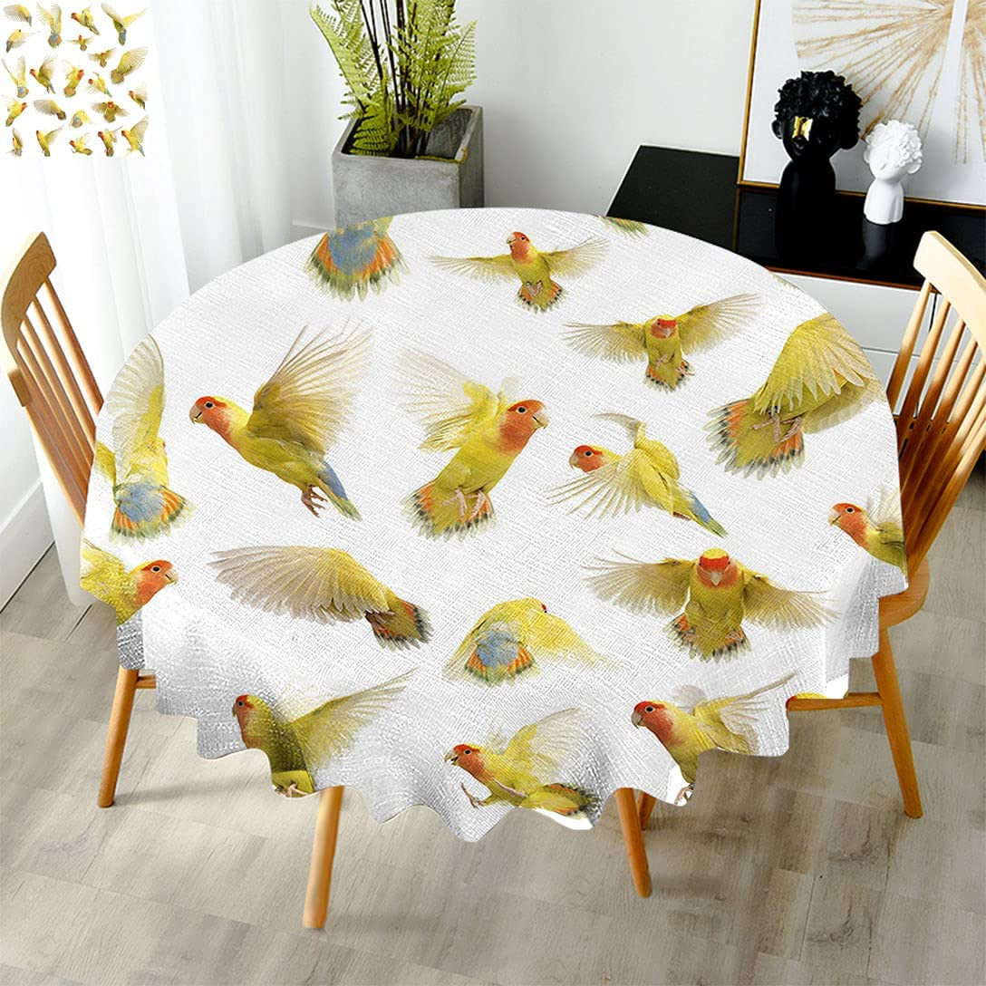 Birds Store Round Outdoor Manufacturer direct delivery Tablecloth Collection Peach Rosy F Flying of