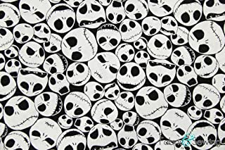 The Nightmare Before Christmas Jack Skellington Licensed Sheeting Fabric Cotton 4 Oz 44-45