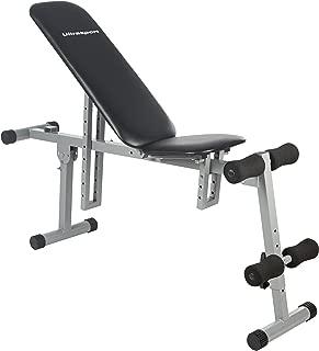 【Amazon限定ブランド】ウルトラスポーツ オールインワントレーニングベンチ 調節可能 最高許容体重:100kg