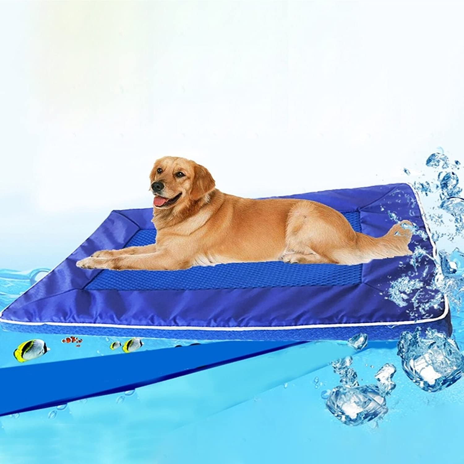 Pet Supplies Summer Dog Pad Bed House Pet Cool Down Pad Detachable Dog Mat Cushion Small Size 28  44  4cm