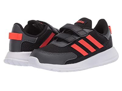 adidas Kids Tensaur Run (Infant/Toddler) (Black/Solar Red/Grey) Boy