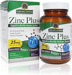 Zinc Plus + Zinc Vitamins for Adults - 25mg of Immune Support with B6 60 Veg Capsules - Vegan, Gluten Free, Cruelty Free Z...