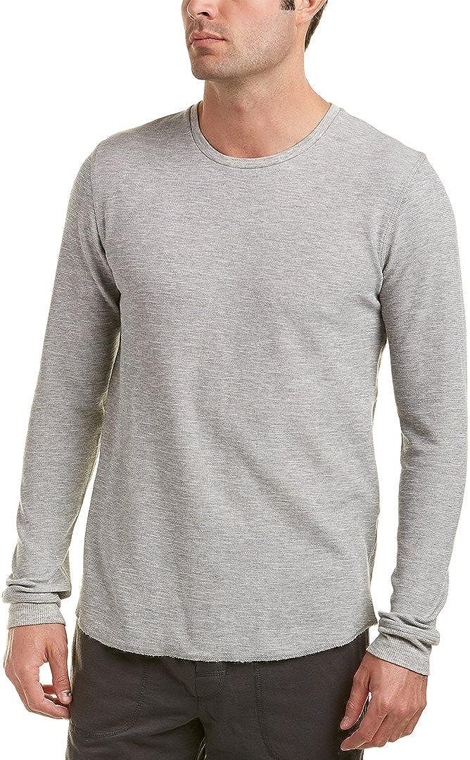 Bread Boxers Men's Long Sleeve Thermal Crew Shirt (BNBUS336) M/Medium Grey