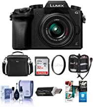 Panasonic LUMIX G7 DMC-G7KS DSLM Mirrorless 4K Camera with 14-42mm Lens Silver w/32GB memory, Bag Accessories Bundle